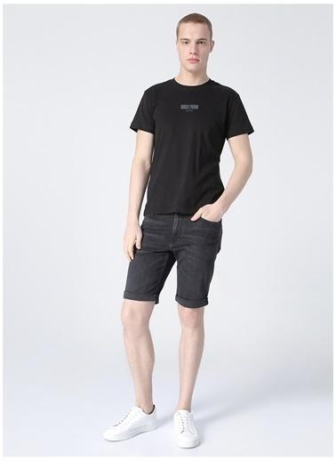 Calvin Klein Calvin Klein Erkek Siyah Denim Şort Renksiz